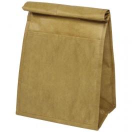 Brązowa torba termoizolacyjna z fakturą torby papierowej