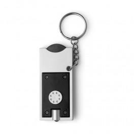 Brelok do kluczy z białą lampką LED i żetonem do wózka, rozmiar 0,5 ?