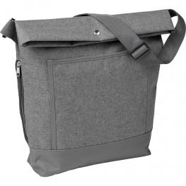Damska torba, zwijana krawędź z napą, mała kieszeń z przodu, regulowany pasek na ramię