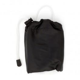 Ręcznik sportowy 40 x 80 cm z czarnym pokrowcem zamykanym na sznurek