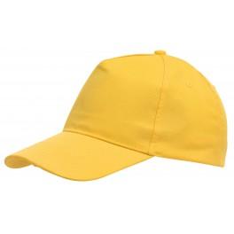 5-segmentowa czapka FAVOURITE, żółty