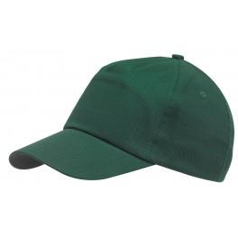 5-segmentowa czapka FAVOURITE, ciemnozielony