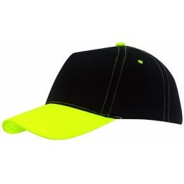 5 segmentowa czapka baseballowa SPORTSMAN, żółty, czarny